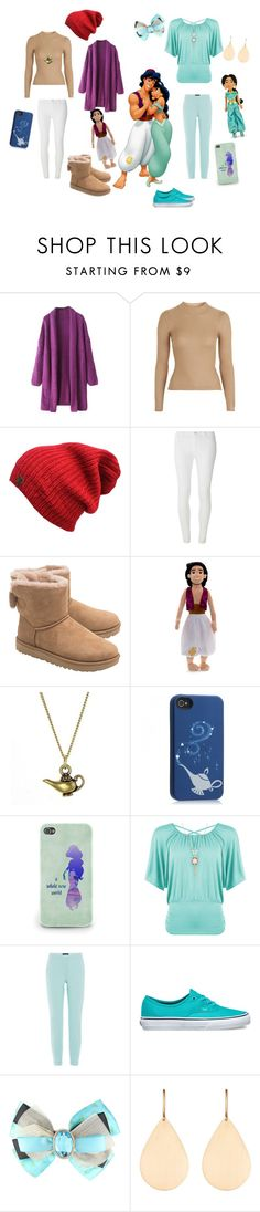 """""""Aladdin and Jasmine casual inspired outfit"""" by ellie-may346 on Polyvore featuring Topshop, Dorothy Perkins, UGG, Disney, WearAll, Piazza Sempione, Vans and Irene Neuwirth"""