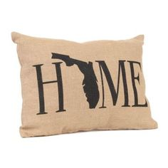 If you're proud to be from the Sunshine State, then you will love our Florida Home Burlap Pillow! #Kirklands #Florida #statepride