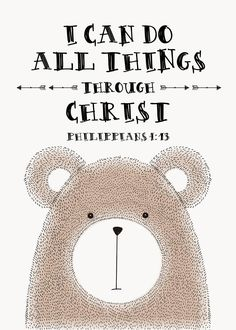 $5 Bible Verse Prints - I can do all things through Christ Philippians 4:13  You…