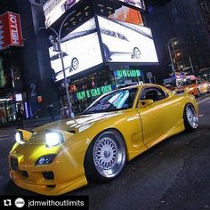 #Repost @jdmwithoutlimits (@get_repost) Rate 1-7! Clean yellow Rx7 __ Follow: @JdmWithoutLimits for more!