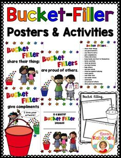 Teach your students about bucket filling with these bucket filler posters and…