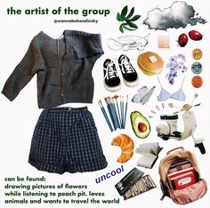 welcome to my friend group! these are gonna be kinda like niche memes/ moodboards i guess? this ones based on me! my best friends posts will be coming out tomorrow and saturday! u can ask questions about them if ya want Aesthetic Fashion, Aesthetic Clothes, Aesthetic Art, 90s Fashion, Fashion Outfits, Womens Fashion, Art Hoe Fashion, Mein Style, Vogue