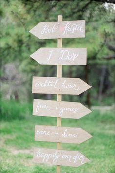 diy wedding sign #diy #weddingsign #weddingchicks http://www.weddingchicks.com/2014/03/26/elegant-pink-and-navy-colorado-wedding/