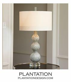 Stratus Glass Lamp | Light Grey