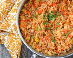 Restaurant Style Mexican Rice. Perfect for Cinco De Mayo.