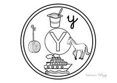 Mandalas del abecedario para colorear: Letra Y