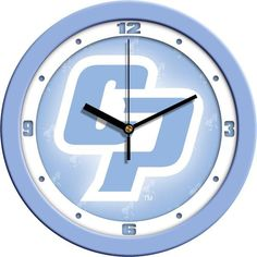 New - California Polytechnic State University-Baby Blue Wall Clock