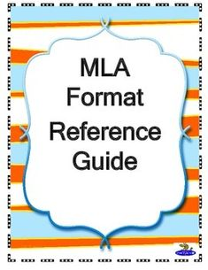 MLA Format Reference Guide. A reference guide for students writing research papers and essays using Modern Language Association (MLA) format. Includes general guidelines for margins, font and spacing, how the heading, title and page numbers should be formatted, and how to make citations for both long and short quotations, tables, and figures.