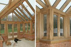 Solid oak windows and frames
