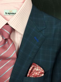 Navy windowpane b.spoke suit made with Guabello fabric. Get yours at www.bspokestyle.com