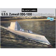 USS Zumwalt Class Destroyer | DRAGON-7141-USS-Zumwalt-Class-Destroyer-1-700-Smart-Model-Kit