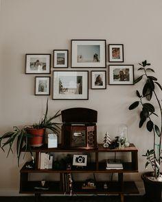 Boise Boudoir Photographer // Boise Senior Photographer // Makayla Madden Photography // Mid Century Modern Ashlyn Bookshelf World Market // Aloe Plant // Record Player // Vinyl // Mid Century Modern Living Room // MCM Living Room Decor // Wall Gallery // Wall Gallery Ideas // Rubber Tree // Plants //