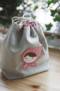 Fabric Gift Bag Tutorial ~