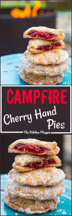 do I have you intrigued? These little delights were… Campfire Cherry Hand Pies….do I have you intrigued? These little delights were made while camping, they are THAT easy! Camping Desserts, Köstliche Desserts, Camping Meals, Dessert Recipes, Backpacking Meals, Kayak Camping, Ultralight Backpacking, Outdoor Camping, Camping Cooking