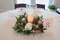 Lanson B. Jones Floral + Events | Megan Chandler designs | #macfloraldesigns | RaeTay Photography | wreath centerpieces