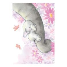 Wild Rose Studio Clear Stamp, Bella Sleeping on Handy Hippo Elephant Trunk, Elephant Love, Elephant Art, Tatty Teddy, Animal Drawings, Cute Drawings, Baby Animals, Cute Animals, Image Deco