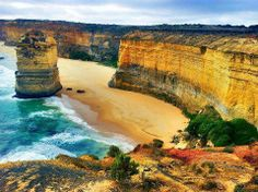 A view of Great Ocean Road and the 12 Apostles, Victoria, Australia
