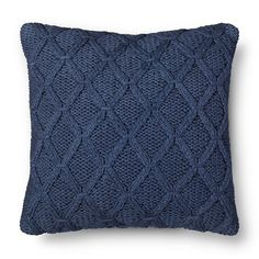 Blue Sweater Knit Throw Pillow - Threshold™ : Target