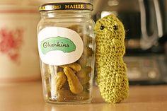 Christmas Pickle Ornament Amigurumi Free Pattern ~ PDF Download
