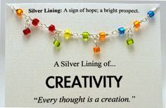 Rainbow Beaded Creativity Necklace  by SimpleSilverLinings on Etsy