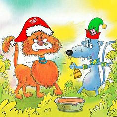 """""""Are you sure about this?"""" the doubtful cat asks. """"Trust me,"""" cries the rat. """"It works everytime!""""  From: """"The Tale of Five Tails"""""""