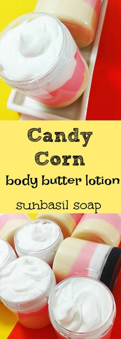 Do you love candy corn? yes or no we think you and your skin will love our Fall inspired Candy Corn Body butter lotion. Scrumptious vanilla all mixed together with candy corn. Perfect Halloween gift too.
