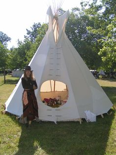 Tipi made from duck canvas purchased at JoAnn's - I love it. It really doesn't have to be hard.