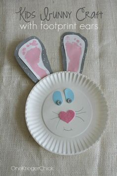 Make a bunny with your little one's footprints - great for baby's first Easter!
