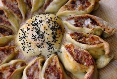 Girasole rustico con carne e formaggio ricetta arte in cucina