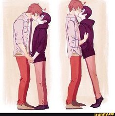 Cute gay homies loving each other cuz love always wins Cute Gay Couples, Anime Couples, Gay Tumblr, Gay Lindo, Couple Travel, Anime Lindo, Makoharu, One Step, Couple Drawings