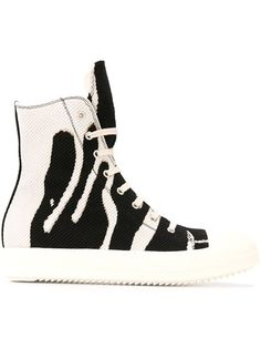 2beca3501f6 Shop Rick Owens DRKSHDW ink print hi-top sneakers in Deliberti from the  world s…