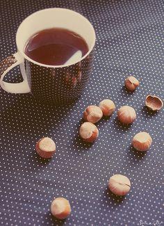 Tea and hazelnuts