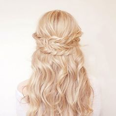 Summer Hair Wrap Around Fishtail Braids Summer Hairstyles, Pretty Hairstyles, Wedding Hairstyles, Quinceanera Hairstyles, Wedding Updo, My Hairstyle, Hair Dos, Gorgeous Hair, Hair Inspiration