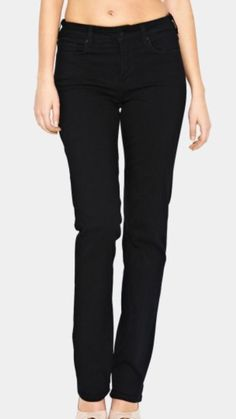 98720fee461cb Not Your Daughters Jeans Black Slimming Straight Leg Women's Size 6P X 28  NWT #NotYourDaughtersJeans