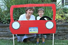 Car-themed Party for Toddlers- Car photo booth!