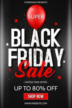 Customize this design with your video, photos and text. Easy to use online tools with thousands of s Black Friday Sale Ads, Black Friday Offer, Invert Colors, Classic Names, Promotional Flyers, Flyer Design, Web Design, Share Online