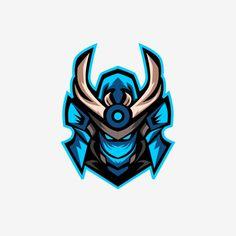Blue Samurai Head Esports Logo Free Logo Design Template Vector and PNG Samurai Logo, Ronin Samurai, Samurai Helmet, Helmet Armor, Game Logo Design, Logo Design Template, Logo Templates, Katana, Knight Medieval