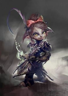 Naomi Baker Concept Art Illustration Guild Wars 2 taimi