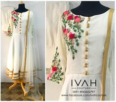 Best 12 We are manufacturers of designer outfits 8968922443 Sizes available S to Shipping worldwide✈ For booking WhatsApp or call at Kurti Embroidery Design, Embroidery Suits, Kurti Patterns, Dress Patterns, Suits For Women, Clothes For Women, Churidar Designs, Kurta Neck Design, Neck Designs For Suits