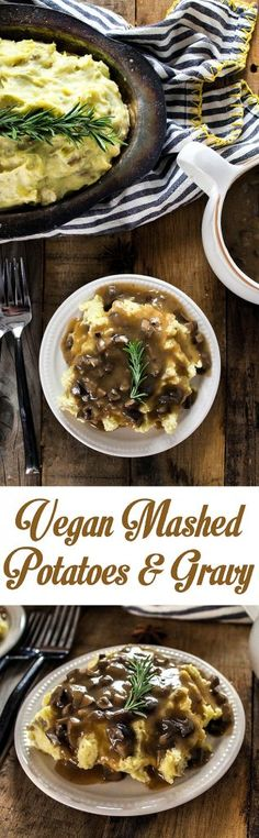 Bring on the dreamy Mashed Potatoes & Mushroom Gravy! This classic recipe is so easy to make, super creamy, comforting and vegan.