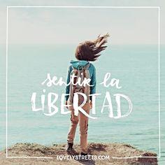 Sentir la libertad, como cuando te encuentras en lo alto de un acantilado frente a un océano de infinitos sueños. #lovelystreets