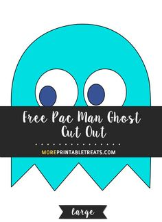 Free Blue Pac Man Ghost Cut Out - Large