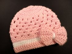 crocheting+for+baby | Crochet Hat Pattern for Baby Girl Newborn to 3 Years PDF