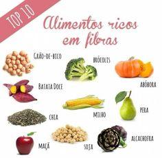 Alimentos top 10 Rico em Fibras!