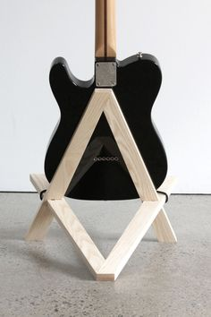 Stol electric guitar stand in solid ash #GuitarStand