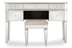 Next Fleur Dressing Table - ShopStyle Mirrored Furniture, Bedroom Furniture, Antique Pewter, Bed Mattress, Dressing Table, Bedding Collections, Office Desk, Corner Desk, Minimalism