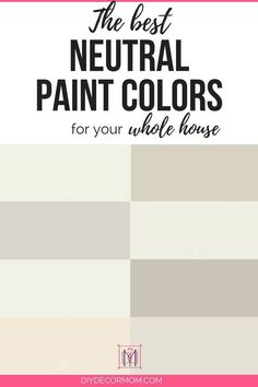 best neutral paint colors for your home including light grays and white paint colors from benjamin moore Neutral Gray Paint, Best Neutral Paint Colors, Light Grey Paint Colors, Best Gray Paint Color, Interior Paint Colors, Paint Colors For Living Room, Paint Colors For Home, Paint Colours, House Colors