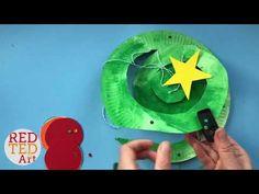 Paper Plate Christmas Tree Twirler - Easy Christmas Tree Paper Plates - Whirligigs - YouTube