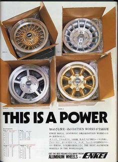 Enkei wheels advertisement