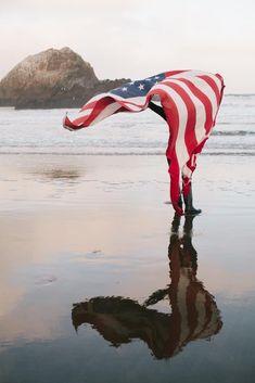 *Reflection - Lovely Sunrise Photo Walk at Sutro Baths in San Francisco, California American Spirit, American Pride, American Girl, American Flag Pictures, American Freedom, I Love America, God Bless America, Beach Pictures, Senior Pictures